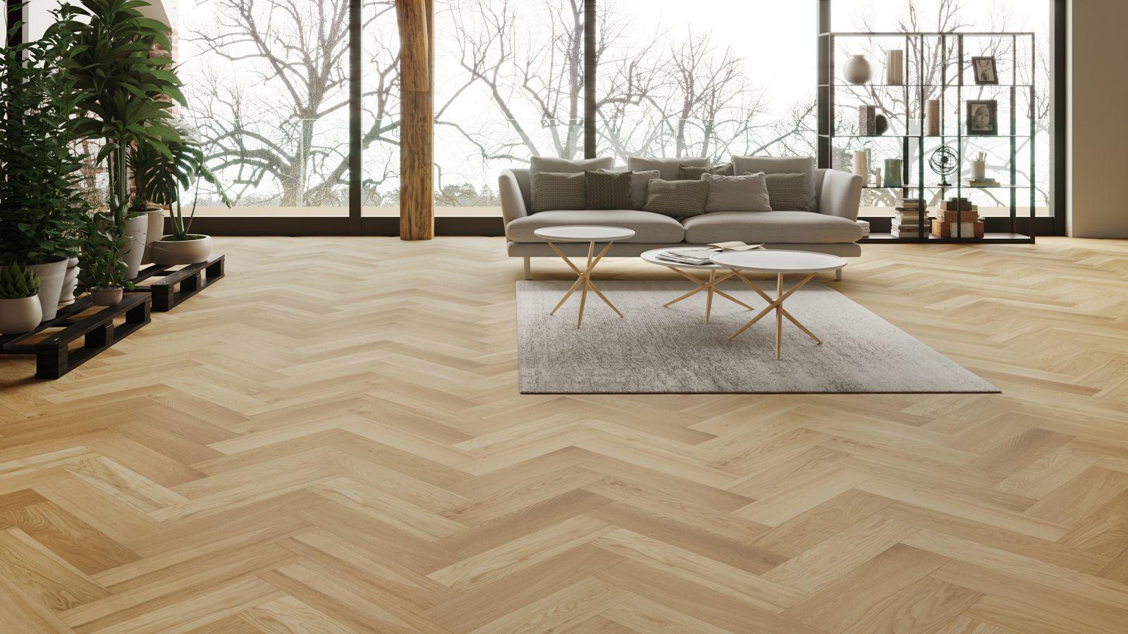 Visgraat invisible look eiken multiplank houten vloeren parket
